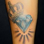 Фото Тату бриллиант от 02.10.2018 №008 - Diamond tattoo - tatufoto.com