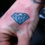 Фото Тату бриллиант от 02.10.2018 №009 - Diamond tattoo - tatufoto.com