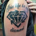 Фото Тату бриллиант от 02.10.2018 №010 - Diamond tattoo - tatufoto.com