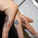 Фото Тату бриллиант от 02.10.2018 №011 - Diamond tattoo - tatufoto.com