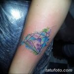 Фото Тату бриллиант от 02.10.2018 №040 - Diamond tattoo - tatufoto.com