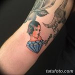 Фото Тату бриллиант от 02.10.2018 №043 - Diamond tattoo - tatufoto.com