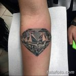Фото Тату бриллиант от 02.10.2018 №049 - Diamond tattoo - tatufoto.com
