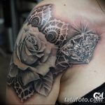 Фото Тату бриллиант от 02.10.2018 №067 - Diamond tattoo - tatufoto.com