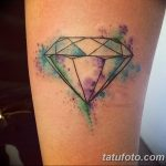 Фото Тату бриллиант от 02.10.2018 №072 - Diamond tattoo - tatufoto.com