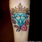 Фото Тату бриллиант от 02.10.2018 №083 - Diamond tattoo - tatufoto.com
