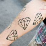 Фото Тату бриллиант от 02.10.2018 №084 - Diamond tattoo - tatufoto.com