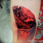 Фото Тату бриллиант от 02.10.2018 №095 - Diamond tattoo - tatufoto.com