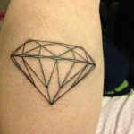 Фото Тату бриллиант от 02.10.2018 №108 - Diamond tattoo - tatufoto.com