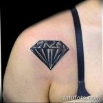 Фото Тату бриллиант от 02.10.2018 №109 - Diamond tattoo - tatufoto.com