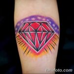 Фото Тату бриллиант от 02.10.2018 №116 - Diamond tattoo - tatufoto.com