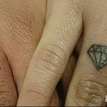 Фото Тату бриллиант от 02.10.2018 №119 - Diamond tattoo - tatufoto.com