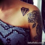 Фото Тату бриллиант от 02.10.2018 №126 - Diamond tattoo - tatufoto.com