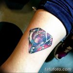 Фото Тату бриллиант от 02.10.2018 №134 - Diamond tattoo - tatufoto.com
