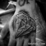 Фото Тату бриллиант от 02.10.2018 №144 - Diamond tattoo - tatufoto.com