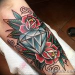Фото Тату бриллиант от 02.10.2018 №170 - Diamond tattoo - tatufoto.com