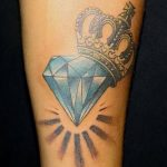 Фото Тату бриллиант от 02.10.2018 №187 - Diamond tattoo - tatufoto.com