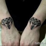 Фото Тату бриллиант от 02.10.2018 №194 - Diamond tattoo - tatufoto.com