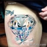 Фото Тату бриллиант от 02.10.2018 №199 - Diamond tattoo - tatufoto.com
