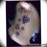 Фото Тату бриллиант от 02.10.2018 №204 - Diamond tattoo - tatufoto.com