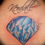 Фото Тату бриллиант от 02.10.2018 №251 - Diamond tattoo - tatufoto.com