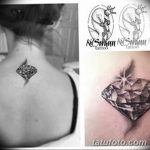 Фото Тату бриллиант от 02.10.2018 №257 - Diamond tattoo - tatufoto.com