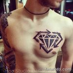Фото Тату бриллиант от 02.10.2018 №263 - Diamond tattoo - tatufoto.com