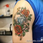 Фото Тату бриллиант от 02.10.2018 №264 - Diamond tattoo - tatufoto.com