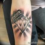 Фото Тату бриллиант от 02.10.2018 №282 - Diamond tattoo - tatufoto.com