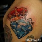 Фото Тату бриллиант от 02.10.2018 №297 - Diamond tattoo - tatufoto.com