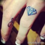 Фото Тату бриллиант от 02.10.2018 №302 - Diamond tattoo - tatufoto.com