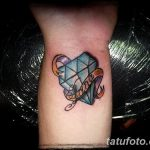 Фото Тату бриллиант от 02.10.2018 №307 - Diamond tattoo - tatufoto.com