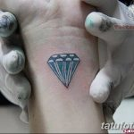 Фото Тату бриллиант от 02.10.2018 №321 - Diamond tattoo - tatufoto.com