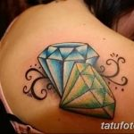 Фото Тату бриллиант от 02.10.2018 №325 - Diamond tattoo - tatufoto.com