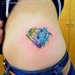 Фото Тату бриллиант от 02.10.2018 №329 - Diamond tattoo - tatufoto.com