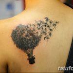 Фото пример рисунка тату одуванчик от 02.10.2018 №005 - dandelion tattoo - tatufoto.com