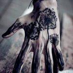 Фото пример рисунка тату одуванчик от 02.10.2018 №013 - dandelion tattoo - tatufoto.com