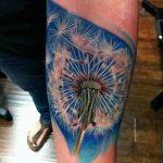 Фото пример рисунка тату одуванчик от 02.10.2018 №034 - dandelion tattoo - tatufoto.com