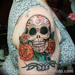 Фото рисунка Сахарный череп тату 30.10.2018 №010 - Sugar Skull Tattoo - tatufoto.com