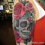 Фото рисунка Сахарный череп тату 30.10.2018 №017 - Sugar Skull Tattoo - tatufoto.com
