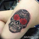 Фото рисунка Сахарный череп тату 30.10.2018 №018 - Sugar Skull Tattoo - tatufoto.com