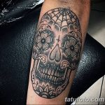 Фото рисунка Сахарный череп тату 30.10.2018 №054 - Sugar Skull Tattoo - tatufoto.com