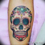Фото рисунка Сахарный череп тату 30.10.2018 №084 - Sugar Skull Tattoo - tatufoto.com