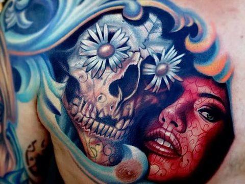Фото рисунка Сахарный череп тату 30.10.2018 №176 - Sugar Skull Tattoo - tatufoto.com
