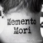 Фото рисунка Тату Memento Mori 31.10.2018 №021 - Tattoo Memento Mori - tatufoto.com