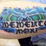 Фото рисунка Тату Memento Mori 31.10.2018 №042 - Tattoo Memento Mori - tatufoto.com