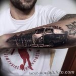 Фото рисунка татуировки автомобиль 29.10.2018 №054 - tattoo car drawing - tatufoto.com