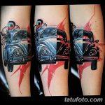 Фото рисунка татуировки автомобиль 29.10.2018 №097 - tattoo car drawing - tatufoto.com