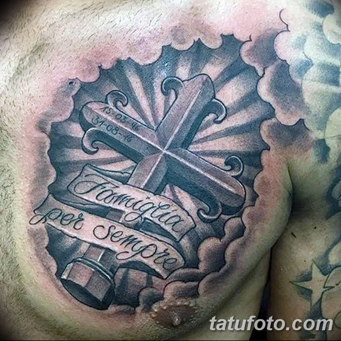 Фото рисунка тату Православный крест 12.10.2018 №012 - tattoo Orthodox - tatufoto.com