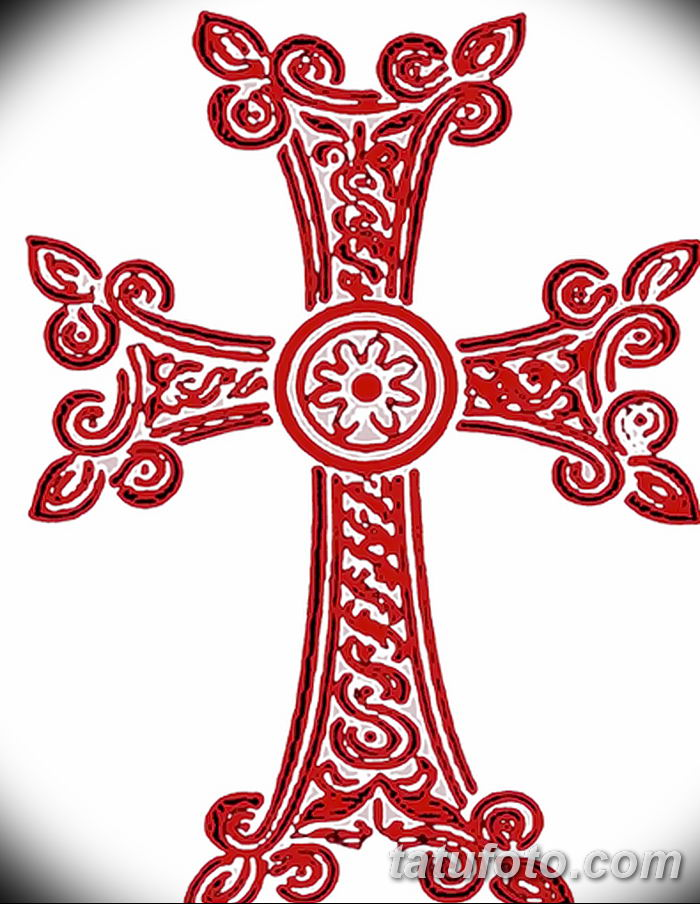Фото рисунка тату Православный крест 12.10.2018 №024 - tattoo Orthodox - tatufoto.com